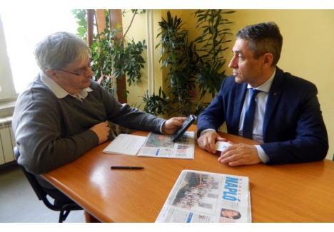 Istvan Rais (foto stânga), în timpul unui interviu cu secretarul de stat maghiar Potápi Árpád János (sursa foto: Facebook)