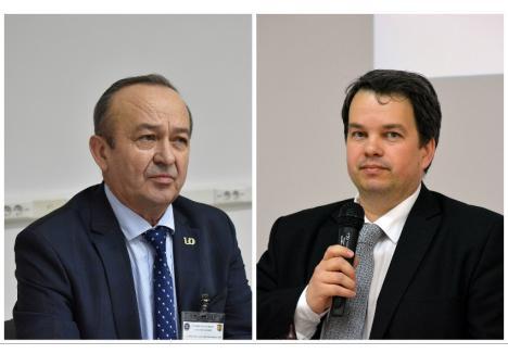 Fostul procuror Valentin Mirişan (stânga) a ieşit la pensie, iar avocatul Cristian Miheş (dreapta) a preluat conducerea Facultăţii de Drept