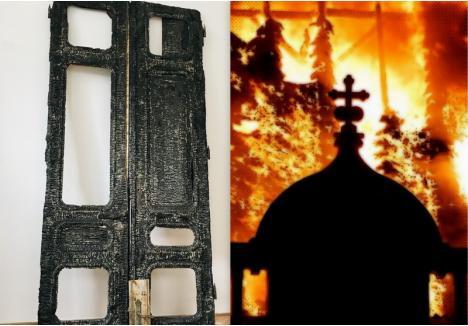 """Episcopia Greco-Catolică organizează expoziţia """"Remember"""" cu fotografii de la incendiul care a distrus parţial Palatul Episcopal din Piaţa Unirii şi obiecte afectate de acel incendiu"""
