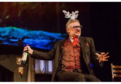 Richard Balint, în rolul Mr. Lockhart (sursa foto: Facebook, Teatrul Naţional Târgu-Mureş - Compania Liviu Rebreanu)