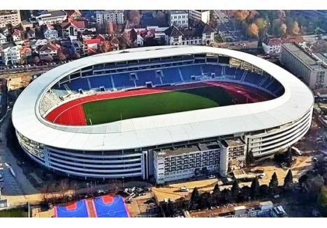 Stadionul din Târgu Jiu, considerat un posibil model pentru viitorul stadion al Oradiei (sursa foto: gorj24.com)