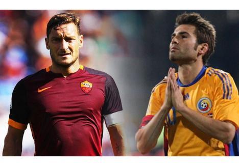 Francesco Totti şi Adrian Mutu (sursa foto: prosport.ro)