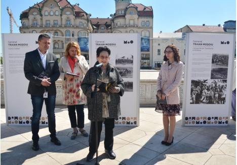 Anca Neculce, nepoata generalului care a eliberat, în urmă cu 100 de ani, Oradea a fost prezentă, marţi, la vernisajul unei expoziţii dedicate acestuia