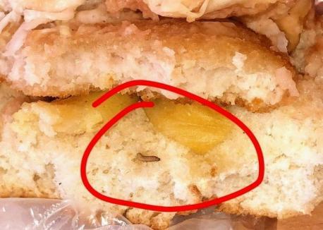 Greţos: Elevii au găsit viermi într-un sandvici vândut într-o şcoală din Aleşd