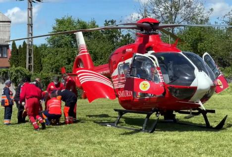 'Relaxarea' a crescut numărul accidentelor în Bihor. Rănit preluat de elicopterul SMURD, după ce s-a răsturnat cu ATV-ul (VIDEO)