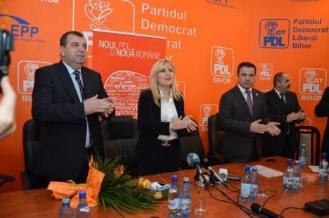 Udrea, la Oradea: Nu ştiu dacă mai sunt primari care dorm cu poza mea sub pernă (FOTO)