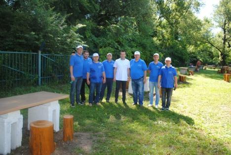Voluntari de la Compania de Apă Oradea, la evenimentul Kaizen de la Silvaş