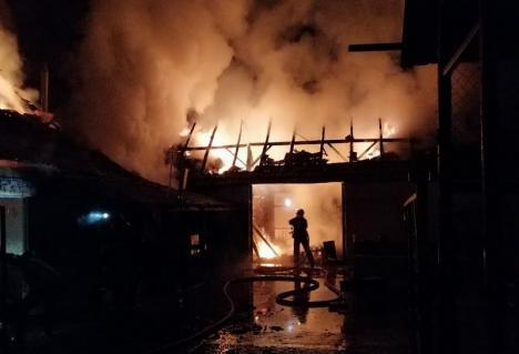 Casă din Sântelec, distrusă de flăcări. Incendiul a izbucnit din neglijenţa proprietarilor