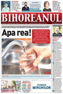 Nu ratați noul BIHOREANUL tipărit! Peste jumătate din localitățile din județ au apă contaminată!