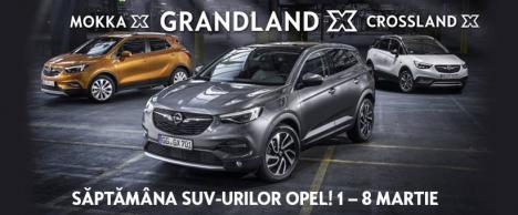 Săptămâna SUV-urilor Opel: 1 - 8 martie. Oferte Opel West de la doar 10.960 euro!