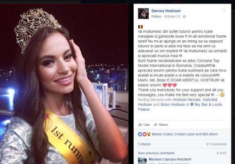 Miss Locul 2: Un fotomodel din Oradea se laudă că a câştigat un concurs la care a obţinut, de fapt, locul secund