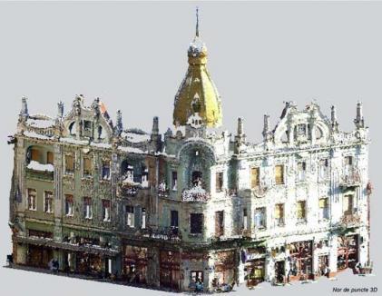 Oradea în 3D: Clădirile monument din centrul oraşului, scanate tridimensional cu laser