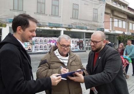 Fără penali în funcţii publice! Campania de strângere a semnăturilor pentru completarea Constituţiei a fost deschisă în Oradea