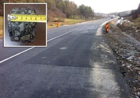 Drum mişcător: Din cauza lucrărilor de mântuială, DN 76 Oradea-Deva a început să crape