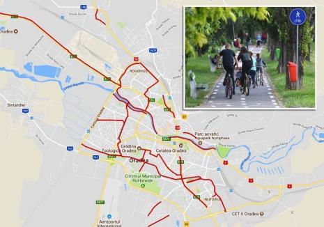 Piste cu hopuri: Oradea are aproape 34 kilometri de piste pentru biciclişti, însă nu şi o reţea eficientă pentru utilizatori