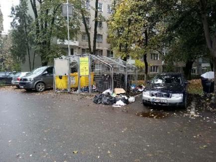 Ne enervează: Unele ţarcuri din Oradea sunt înconjurate constant de gunoaie