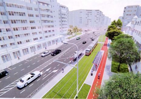 Şantier la bulevard: După Anul Nou, bulevardele Nufărul şi Cantemir din Oradea vor intra într-un mare şantier (FOTO)