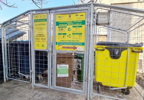 Ţarcuri 'upgradate': Toate ţarcurile de gunoaie din Oradea vor avea pubele noi şi containere cu pedale
