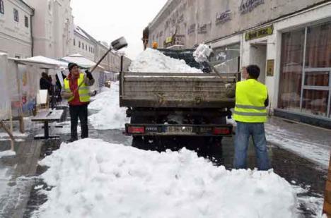 RER, în luptă cu zăpada