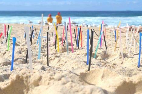 Plajă fără paie din plastic