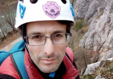 Liber căţărător: Preşedintele clubului de alpinism şi escaladă Cassio Montana, Răzvan Paută, vrea să atragă tinerii spre aceste sporturi