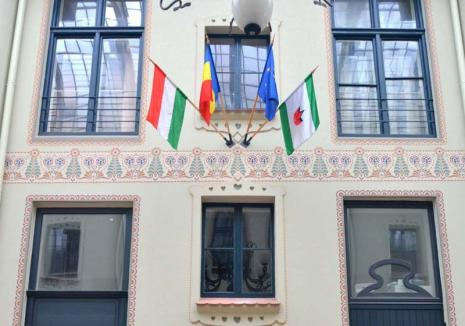 Steagul discordiei: Prefectura se codeşte să amendeze UDMR Bihor pentru arborarea steagului Ungariei (VIDEO)