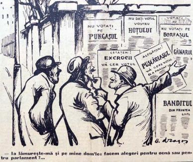 Bătălia pentru putere: Cum se alegeau parlamentarii acum 100 de ani și cu cine votau bihorenii