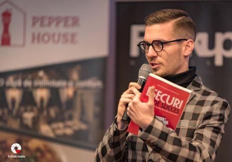 Eșecuri... de succes: Un tânăr orădean de 23 de ani a lansat prima carte cu poveşti despre afaceri ratate