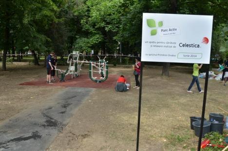 Cadou de la Celestica: Orădenii pot face fitness gratuit în Parcul Brătianu (FOTO)