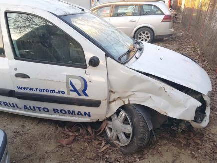 A dat-o-n zid: Fostul şef al RAR Oradea, Gheorghe Lupaş, a făcut praf maşina de serviciu! (FOTO)