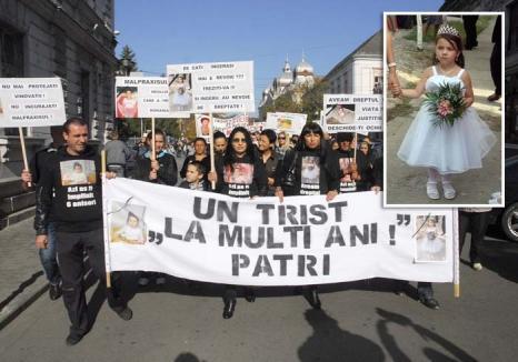 Dreptate pentru Patricia: Acuzată de malpraxis, doctoriţa Călinescu a fost achitată pe motiv că micuţa... ar fi murit oricum