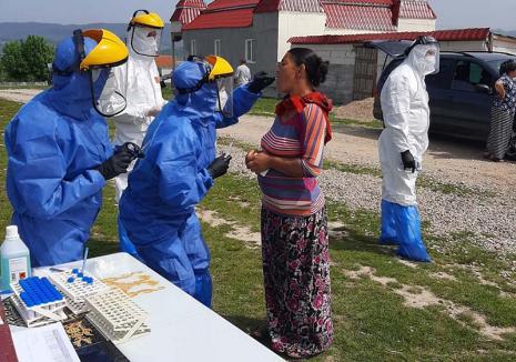 Ca ţiganul la mal: Testarea Covid a comunităţilor de romi din Bihor a fost oprită din ordin de la Bucureşti