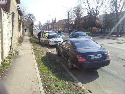Accident pe Ştefan cel Mare: Aflat la volanul unui Mercedes S Class, patronul de la Pentax a izbit un Opel (FOTO)