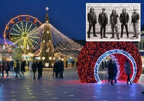 Distracţie în 'Ajun': Înainte de sosirea lui Moş Crăciun, orădenii vor avea parte de concerte Iris şi Ştefan Bănică jr. în Piaţa Unirii
