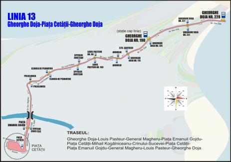 OTL anunță modificări de trasee la liniile 13, 15 și 16