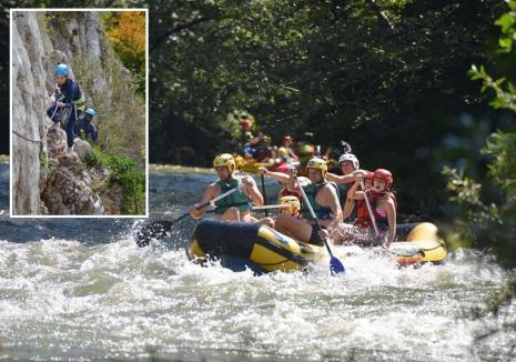 Poftă de aventură: Orădenii sunt ispitiţi să iasă în natură la munte, pe trasee stâncoase, la escaladă, rafting şi caiac-canoe
