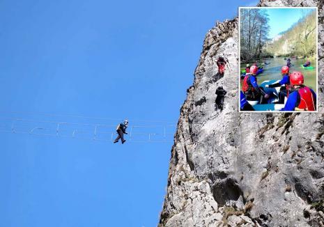 Cauţi o aventură? A început sezonul activităţilor de aventură în Bihor, cu rafting, via ferrata, mountain bike şi speoturism (FOTO)
