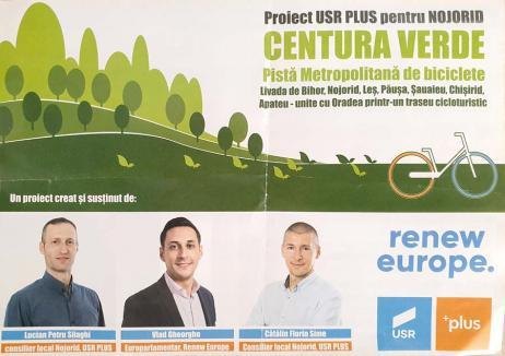 Musca la arat: USR-PLUS se laudă cu proiectul Pistei Metropolitane de Biciclete, propus de liberali