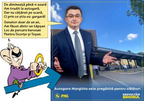 Adi de la autogară: Senatorul Hatos se laudă cu finalizarea lucrărilor la... Autogara Marghita