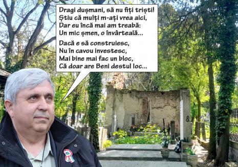 Locul de veci: Fostul șef al CJ Bihor, Alexandru Kiss, și-a lăsat în paragină cavoul din cimitir (FOTO)