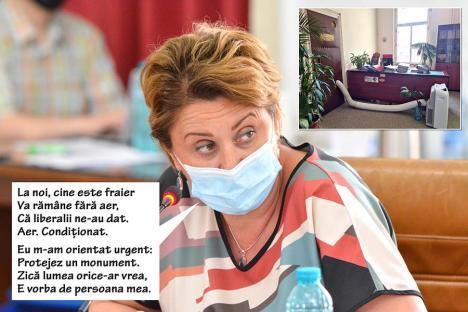 Îşi dau aere! Cum se răcoresc în Primărie angajatele fundaţiei conduse de Angela Lupşea (FOTO)