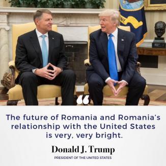 Trump şi-a pus pe Facebook poză cu Iohannis: 'Viitorul României şi al relaţiei României cu Statele Unite este foarte, foarte luminos'