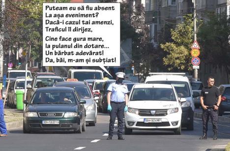 Servesc patria! Șeful Poliției Locale Oradea, de nerecunoscut la deschiderea Pasajului Magheru