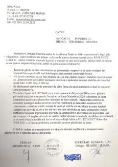 Batăr de-ar şti scrie: Răspuns ruşinos transmis de Primăria din Batăr Avocatului Poporului