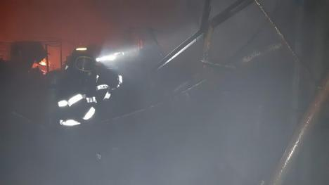 Pagube imense în urma incendiului de la Salonta. Patronii au ajuns la spital (FOTO)