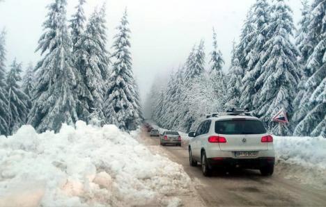 Atenţie, şoferi! Trafic aglomerat pe drumul de Stâna de Vale şi Vârtop