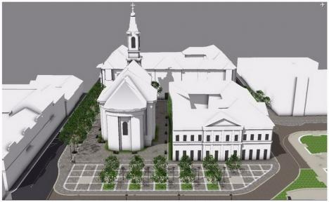 Piaţa Unirii din Oradea se extinde în jurul catedralei Sfântul Nicolae. Vezi cum va arăta! (FOTO)