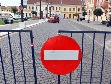Pentru defilare! Traficul rutier prin centrul Oradiei va fi restricţionat începând de joi (HĂRŢI)
