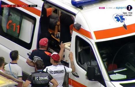 Şoc pe Arena Naţională! Antrenorul echipei Dinamo Bucureşti s-a prăbuşit pe banca de rezerve în urma unui stop cardio-respirator (VIDEO)