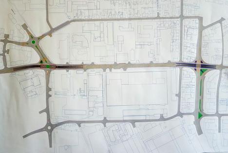 Strada Tudor Vladimirescu ar putea aveapatru benzi de circulaţie şi două pasaje subterane